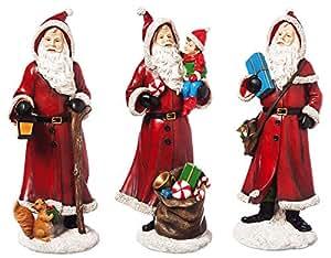 Neue kreative Polystone Jolly Santa Statuen, Set von 3