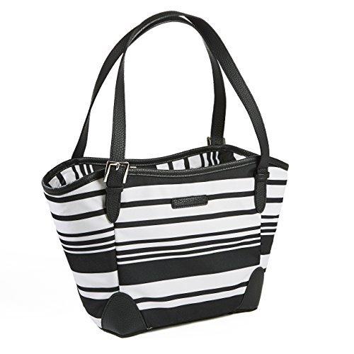 Rachael Ray Chelsea Lunchtasche mit 2 Fächern schwarze Streifen