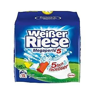Weißer Riese Pulver Megaperls 15 WL/1,012 kg, 5er Pack (5 x 15 Waschladungen)