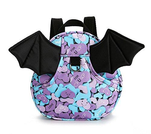 ost Rucksack mit Safe Geschirr Kid Kinder Rucksack Baby Girl Tasche die der Engel Flügel und Halloween Bat Wing Design (Halloween Engelsflügel)