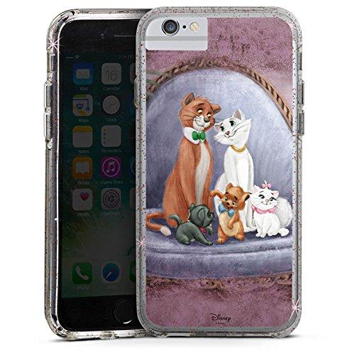 Apple iPhone 8 Bumper Hülle Bumper Case Glitzer Hülle Disney Aristocats Merchandising Pour Supporters Bumper Case Glitzer rose gold