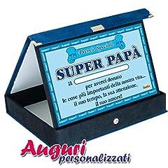 Idea Regalo - Targa premio superpapà