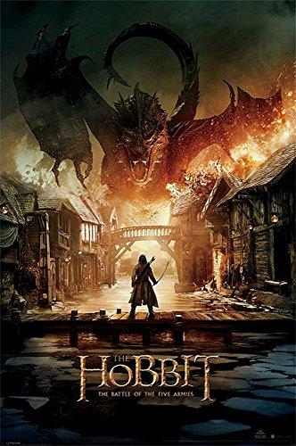 """Empire - Poster """"Lo Hobbit"""" con il drago Smaug multicolore"""