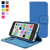 Snugg b00mhx1yc6 – Elektrische Flip Cover für Apple iPhone 5 C blau