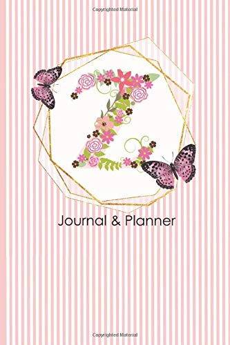 Z Journal & Planner: Day to a Page Monogram Initial Diary and Organizer (Floral-design-tools)