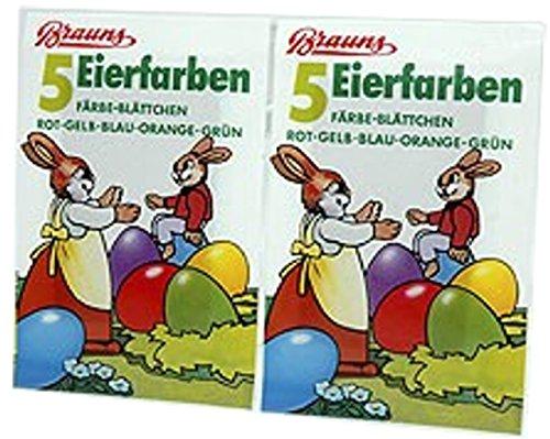 50 Färbeplättchen für Ostereier, Heißfärben, Eierfarben, 10 x 5 Farben f. Ostern