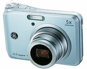 """GE General Electric A1250 Appareil photo numérique 12 mégapixels, zoom optique 5x, écran 6,4 cm (2,5""""), mode Auto Panorama, stabilisateur d'image Argent (Import Allemagne)"""