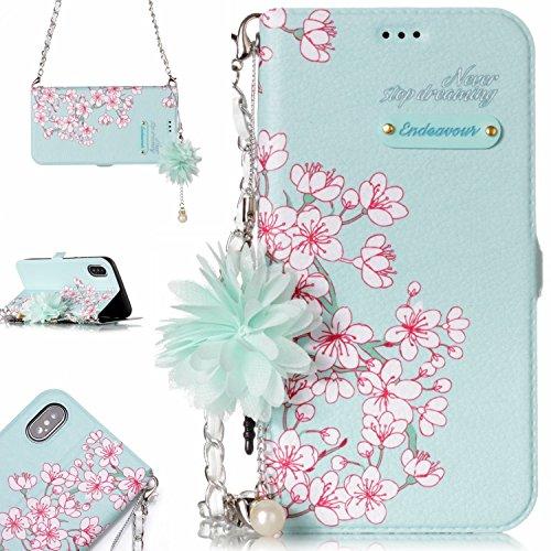 iPhone Fall Premium Handy Case Tasche Slim Cover für iPhone [mit gratis Tempered Glas Displayschutzfolie]