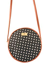Women's Sling Bag (Blue And Peach) - B072XGS3HW