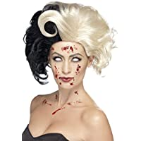 Smiffy's - Peluca deluxe de Cruela, color negro & blanco (44264)