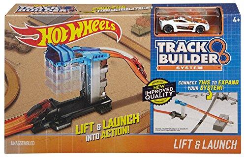 Hot Wheels DJD66 - Track Builder Basis Set Aufzug und Starter, Auto Spielzeug ab 6 Monaten (Builder Hotwheels Track)