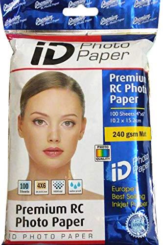 NOVA Premium RC Matt Photo Paper 4 x 6 Inches - 240 gsm (100 Sheets)