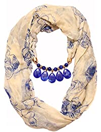Scarf Necklace California Printed Necklace Scarf Pendant Scarf Stole Muffler For Girls Women.Order Now