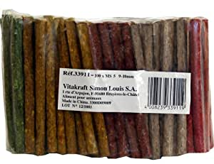 Vitakraft - 33911 - Lot de 100 Cigares Reconstitués - 9/10 mm