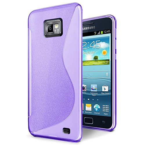 Samsung Galaxy S2 S2 Plus Silikon Hülle Case in Lila Cover Galaxy S2 S2 Plus Schutzhülle Handyhülle Cover Silikonhülle - Case Lila S2