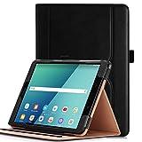 iHarbort Hülle für Samsung Galaxy Tab S3 9.7 PU-Leder Hülle Schutzhüllen Case Cover für Samsung Galaxy Tab S3 9.7 Zoll SM-T820 T825 mit Kartensteckplatz und Auto-Weck/Schlaf-Funktion, Schwarz