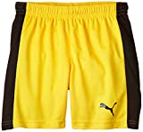 PUMA Kinder Hose Pitch Shorts with Innerbrief, Team Yellow-Black, 116, 702075 07