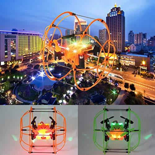Daxoon mini drone per bambini, ufo ball flying con modalità headless 2,4 ghz 360 ° rotazione quadcopter, flying giocattolo per ragazze o ragazzi e inizio verde