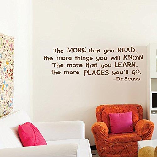 mairgwall inspirierenden Zitat mehr, dass Sie lesen Home Study Room Aufkleber Teen Raum Wand Grafiken, Vinyl, Customized-colors, 19