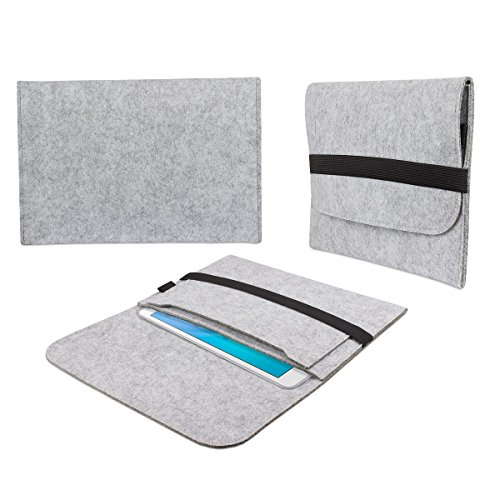 galaxy tab s2 97 huelle eFabrik Hülle für Samsung Galaxy Tab S2 / Galaxy Tab S2 VE 24,6 cm (9,7 Zoll) Tasche Sleeve Schutzhülle Filz hell grau