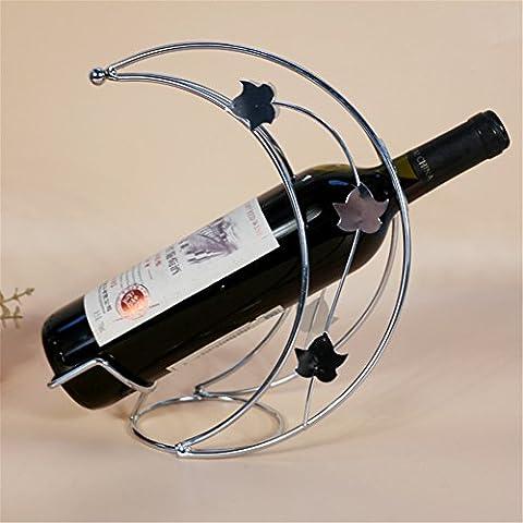VIGVOG Crescent Moon Wine Bottle Rack Holder