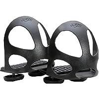 Compositi Steigbügeleinlage mit Durchrutschschutz 1 Paar = 2 Stück   Durchrutschschutz Steigbügel für Kinder schwarz Sicherheitssteigbügeleinlage mit Kappe