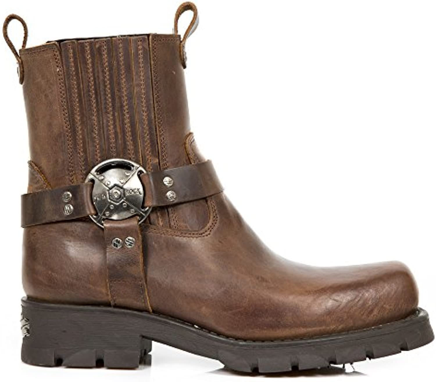 New Rock M.7605 S20 Marron Leder Stiefel