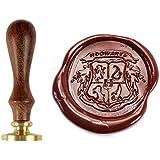 Juego de sellos Uniqooo Arts & Crafts de Hogwarts, en diseño con las casas, con cera incluida, color 1 pc 1 pc