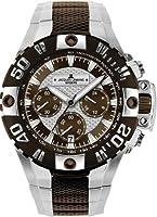 Reloj de caballero JACQUES LEMANS Powerchrono 2008 1-1377C de cuarzo, correa de acero inoxidable (con cronómetro) de Jacques Lemans