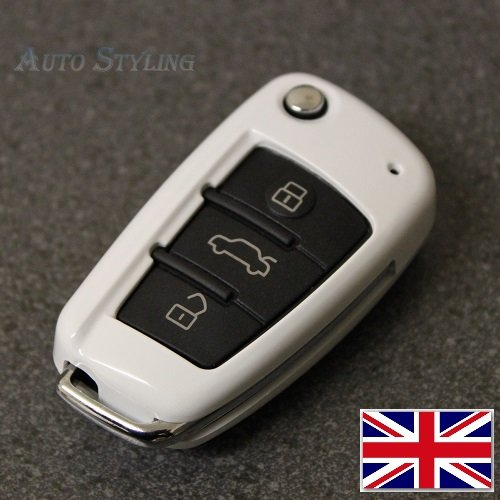 Gloss Wise White Audi 3 Button Key Cover A1 S1 A3 S3 for sale  Delivered anywhere in UK