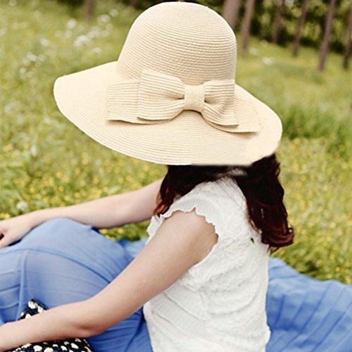 gaojuan Korean Version Of Spring und Summer Sun Hat Buchse, faltbar Beach Hat Sun Visor Cap UPF 50+ UV-Schutz Sun Hat