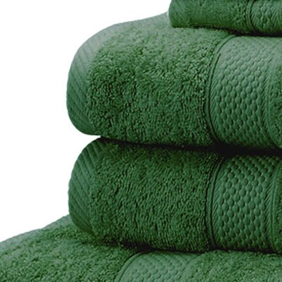 Linens Limited 100% Turkish Cotton Hand Towel, Forest Green