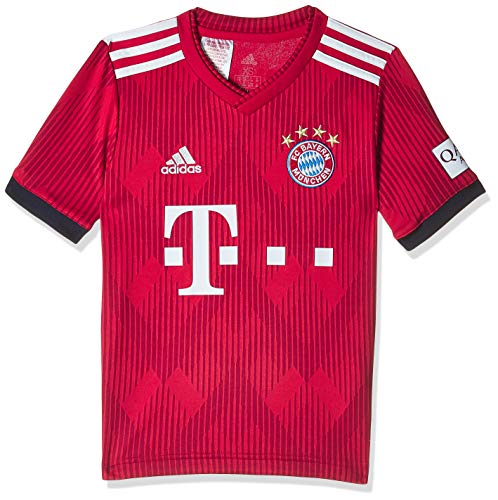 adidas Kinder 18/19 FC Bayern Home Trikot, FCB True red/Strong red/White, 128