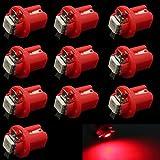HopeU5 Red T5 B8.5D 5050 1-SMD Car Instrument Panel LED Light Dashboard Gauge