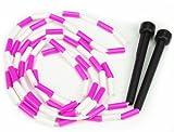 K-Roo Sports sjmp-001Jump Seil mit Kunststoff Perlen Segmentierung, 7, pink/weiß