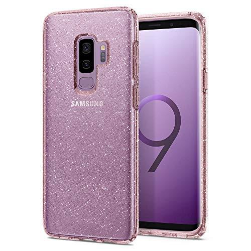 Spigen Liquid Crystal Samsung Galaxy S9 PLUS Hülle (593CS22919) Glitzer Design Glänzende Transparent Handyhülle Passgenau Kratzfest Durchsichtige Schutzhülle Case (Rose Quartz)