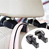 Inditradition Universal Car Back Seat Headrest Hook | Hanging Holder for Purse, Bags, Polybags, Handbags, Groceries (Pack of