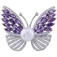 KUNQ Süße Brosche/Top - Schmetterling - Brosche Lady Atmosphäre Anti - Spaziergang Mit Brosche Jacke Pullover Pin Luxus - Perlen Und Zubehör