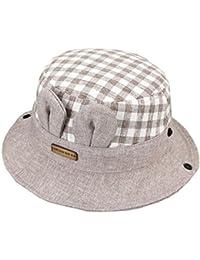 Cappelini Alla Pescatora Bambine Bucket Hats Bambini Cappello da Sole  Irlandese a Quadri Berretti Coniglio Cotone 73f6be50c98f