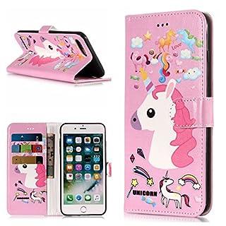 FNBK Hülle Kompatibel mit iPhone 7 Plus/iPhone 8 Plus Handyhülle Marble Tasche Leder Flip Case Brieftasche Schutzhülle für iPhone 7 Plus/iPhone 8 Plus 5.5