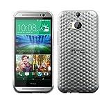 Luxburg® Diamond Design Schutzhülle für HTC One M8 in Farbe Bergkristall Weiß, Hülle Case aus TPU Silikon