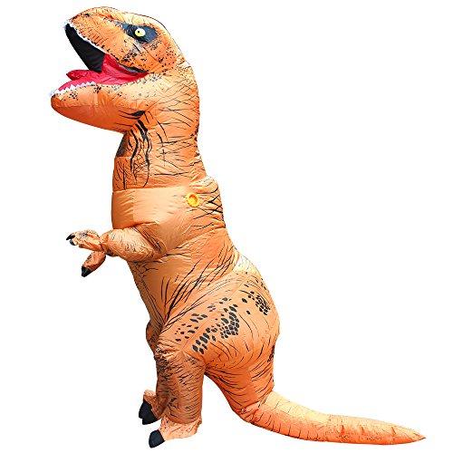 ier T-Rex Kostüm - Adult eine Größe Kostüm Halloween Outfit - mit Batterie betriebenen Ventilator (T-rex Outfit)