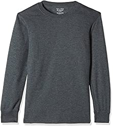 Jockey Boys Thermal Top (KT02_Charcoal Melange_8)