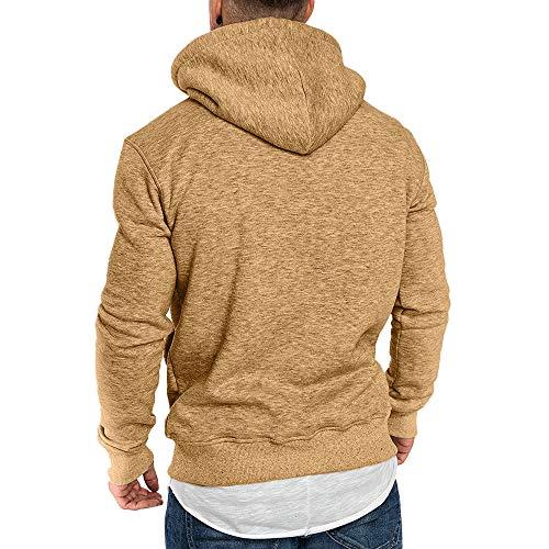 Imagen de riou ¡oferta sudaderas con capucha para hombre cosy chaqueta deportiva sudadera con cremallera completa ecosmart hoodie casual jerséis top blouse ¡caliente! alternativa