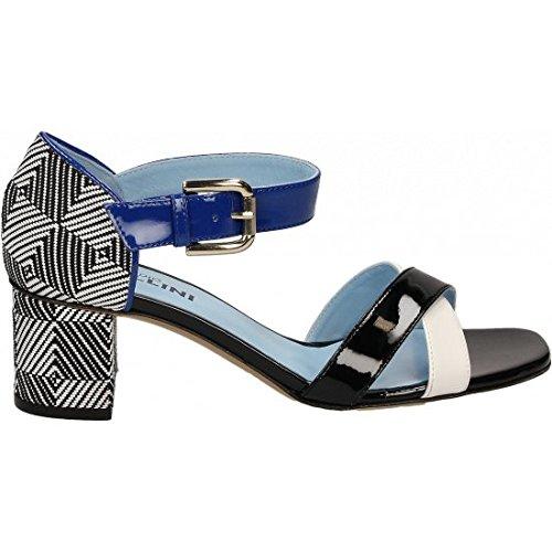 STUDIO POLLINI , Chaussures de sport d'extérieur pour femme Blanc Cassé blanc/noir 36 blanc/noir