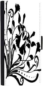 Snoogg Floral Corner Silhouette designer Protective Phone Flip Case Cover For Lg Nexus 5X