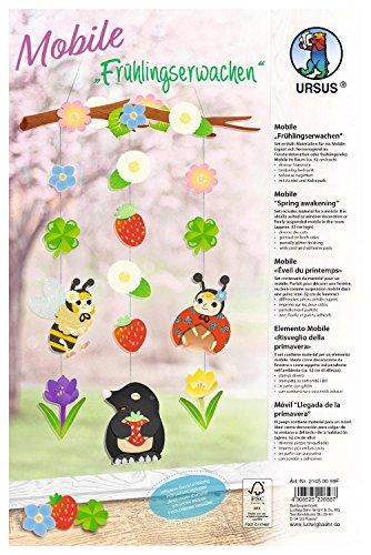 Ursus Bastel-Set Mobile Frühlingserwachen 66 Teile Papier Stranzbogen