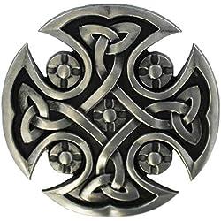 eeddoo Cinturón Hebilla-Diseño Cruz Celta (Buckle para cambio Cinturón para hombre y mujer)