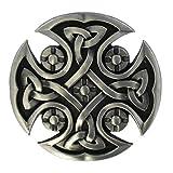 eeddoo® Gürtelschnalle - keltisches Kreuz (Buckle für Wechselgürtel für Damen und Herren | Belt Frauen Männer Oldschool Rockabilly Metall Gothic Wave Rock Biker...
