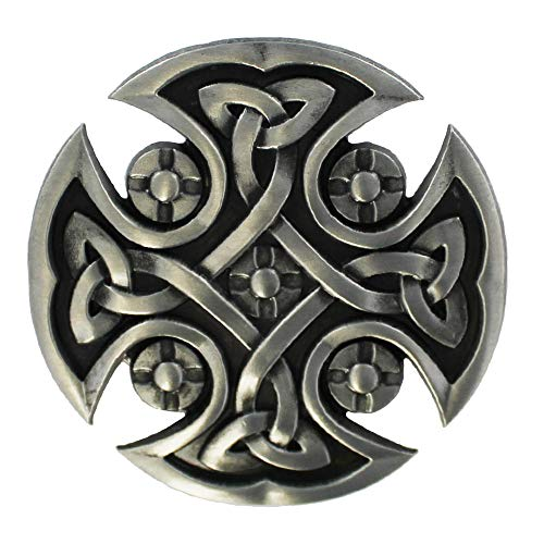 eeddoo® Gürtelschnalle - keltisches Kreuz (Buckle für Wechselgürtel für Damen und Herren | Belt Frauen Männer Oldschool Rockabilly Metall Gothic Wave Rock Biker Western Trucker Casino Skull)